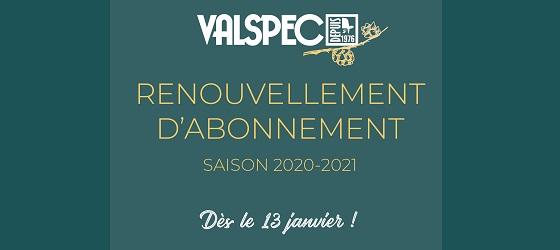 Abonnement de saison 2020-2021