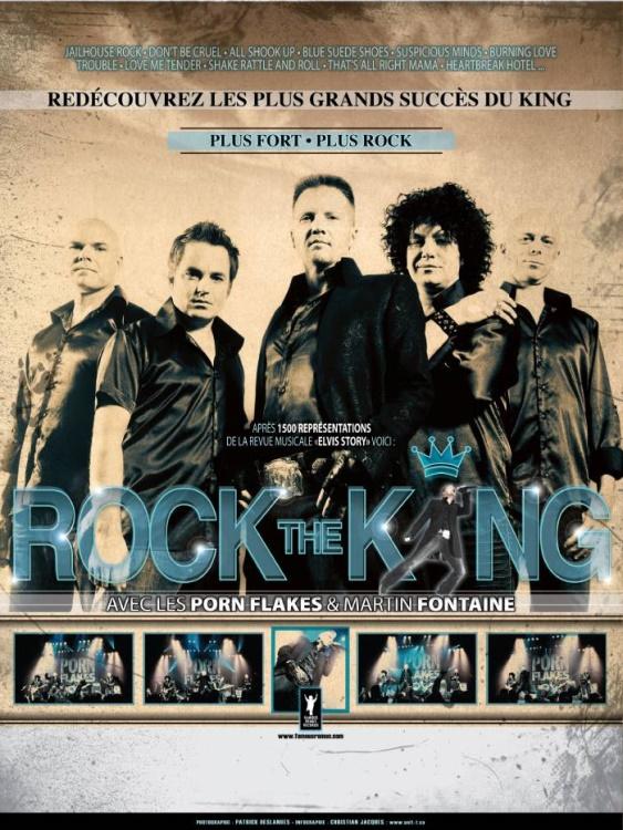 Martin Fontaine présente ROCK the KING avec les Porn-Flakes