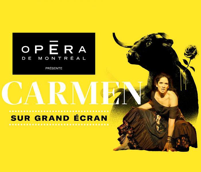 Projection Opéra de Montréal (Une Carmen pour tout le Québec !)