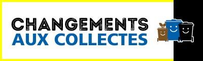 Modifications des collectes des matières résiduelles