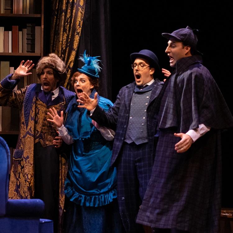 Spectacle Sherlock Holmes et le signe des Quatre: Théâtre Advienne que pourra présenté au Carré 150  de Victoriaville