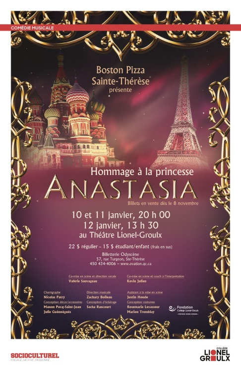 Hommage à la Princesse Anastasia